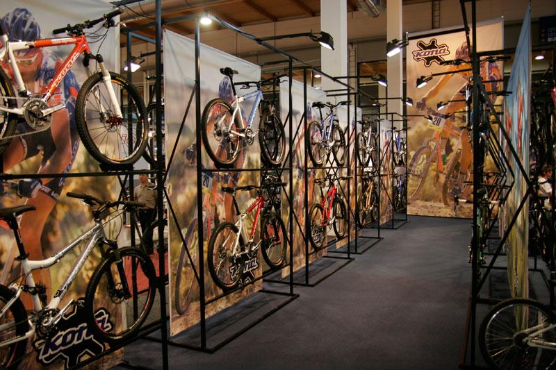 Bike stands w banners / Friedrichshafen, Germany